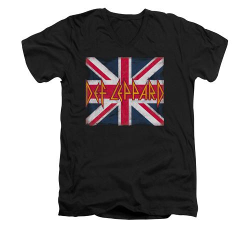 Image for Def Leppard V Neck T-Shirt - Union Jack