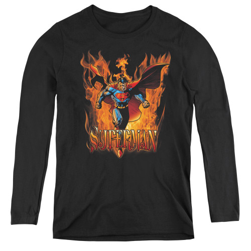 Image for Superman Women's Long Sleeve T-Shirt - Through The Fire