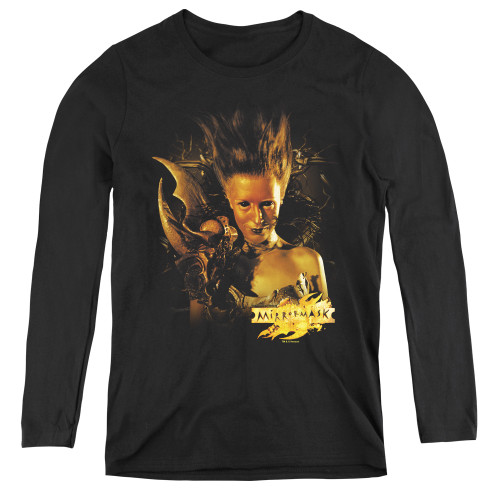 Image for MirrorMask Women's Long Sleeve T-Shirt - Queen of Shadows