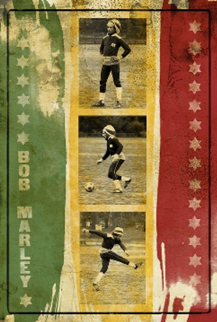Image for Bob Marley Poster - Soccer Collage