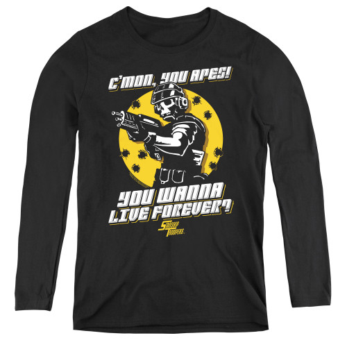 Image for Starship Troopers Women's Long Sleeve T-Shirt - Death of the Ape