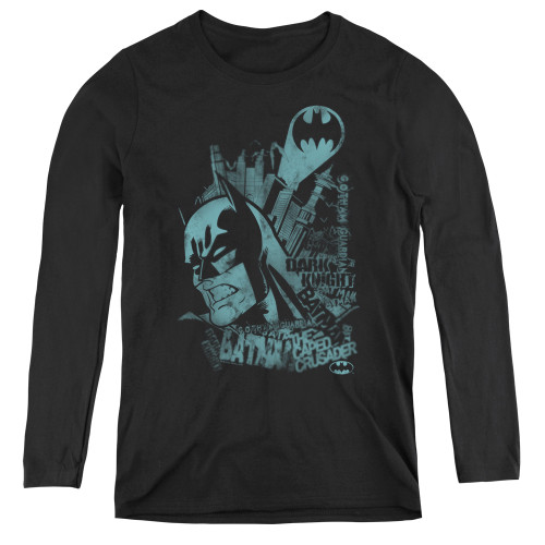 Image for Batman Women's Long Sleeve T-Shirt - Gritted Teeth