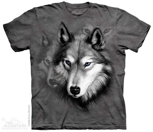 Image for The Mountain T-Shirt - Wolf Portrait