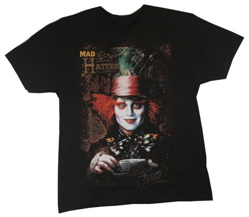 Image Closeup for Alice in Wonderland Mad Hatter T-Shirt
