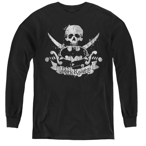 Image for Batman Youth Long Sleeve T-Shirt - Dark Pirate Logo