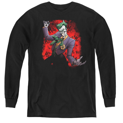 Image for Batman Youth Long Sleeve T-Shirt - Joker's Ace