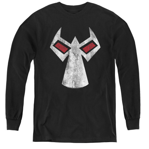 Image for The Dark Knight Rises Youth Long Sleeve T-Shirt -Bane Mask