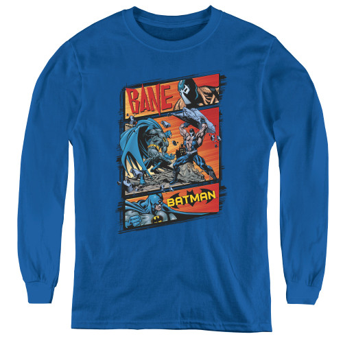 Image for The Dark Knight Rises Youth Long Sleeve T-Shirt - Bane Epic Battle