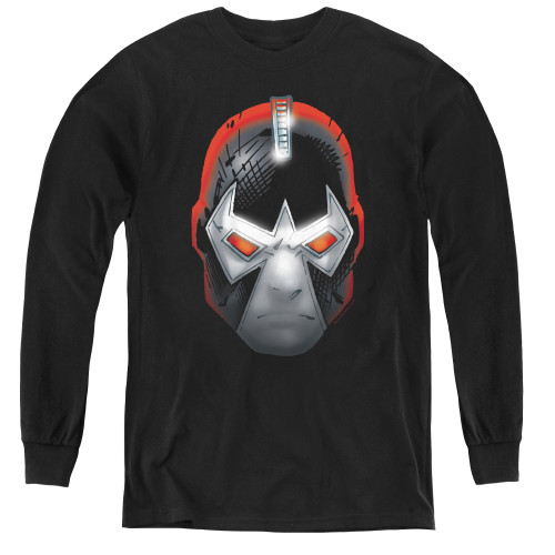 Image for The Dark Knight Rises Youth Long Sleeve T-Shirt - Bane Head
