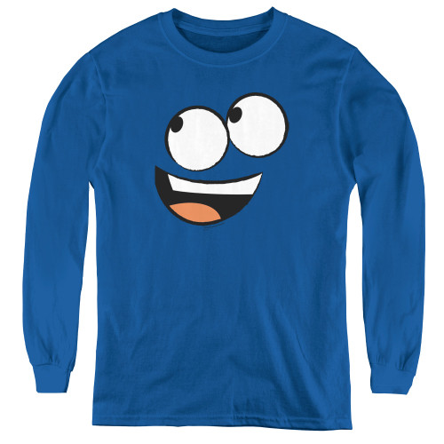 Image for Fosters Home for Imaginary Friends Blue Face Youth Long Sleeve T-Shirt