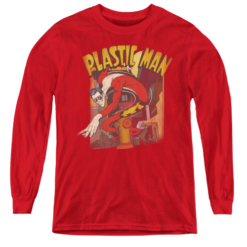 Image for Plastic Man Street Youth Long Sleeve T-Shirt