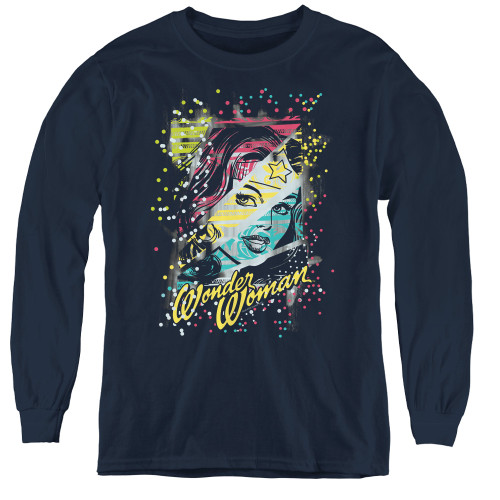 Image for Wonder Woman Color Block Youth Long Sleeve T-Shirt