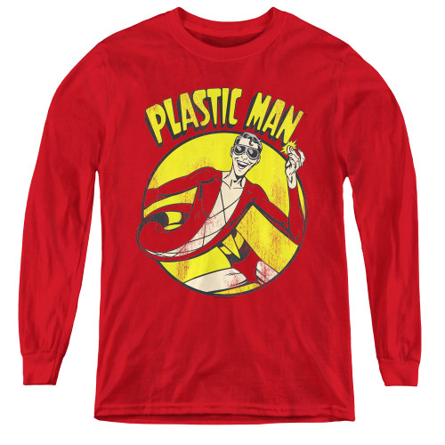 Image for Plastic Man Youth Long Sleeve T-Shirt