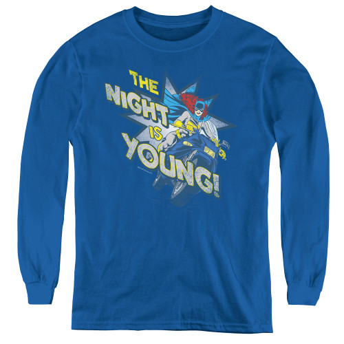 Image for Batgirl The Night is Young Youth Long Sleeve T-Shirt