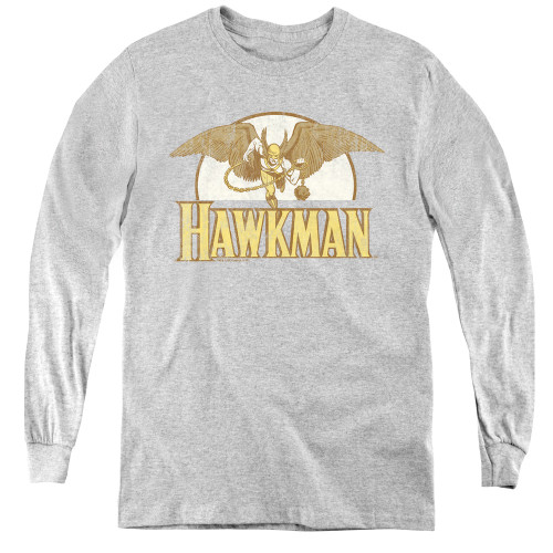 Image for Hawkman Fly By Youth Long Sleeve T-Shirt