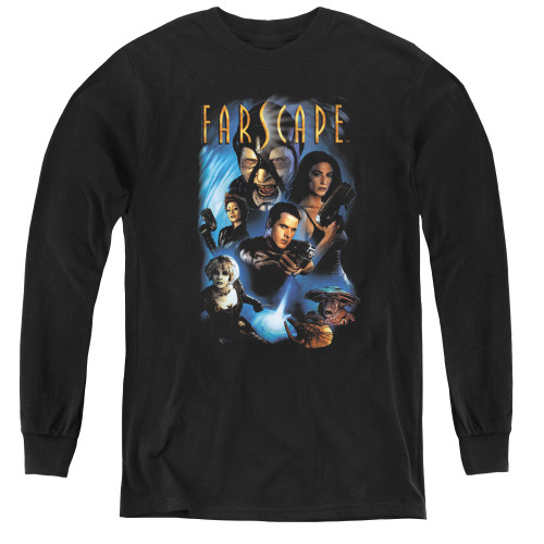 Image for Farscape Comic Cover Youth Long Sleeve T-Shirt