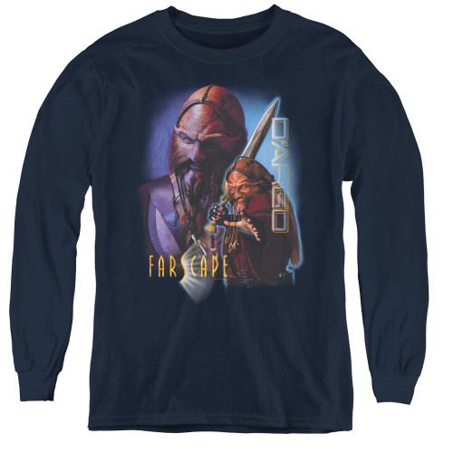 Image for Farscape D'Argo Youth Long Sleeve T-Shirt