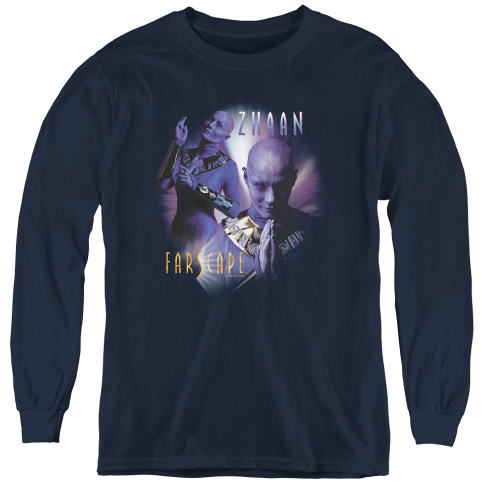 Image for Farscape Zhaan Youth Long Sleeve T-Shirt