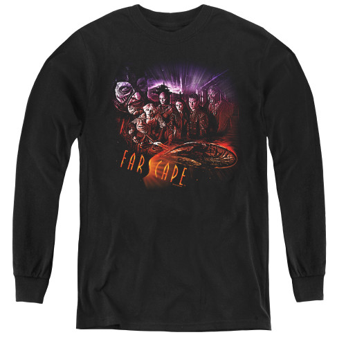 Image for Farscape Graphic Collage Youth Long Sleeve T-Shirt