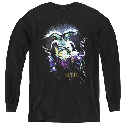 Image for Farscape Rygel Smoking Guns Youth Long Sleeve T-Shirt