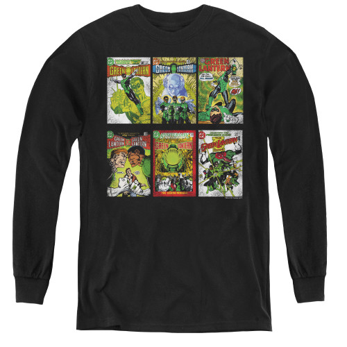 Image for Green Lantern Covers Youth Long Sleeve T-Shirt