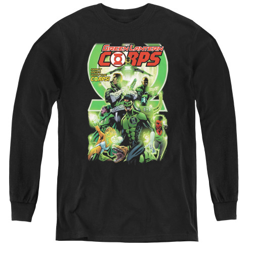 Image for Green Lantern Corps #25 Logo Youth Long Sleeve T-Shirt