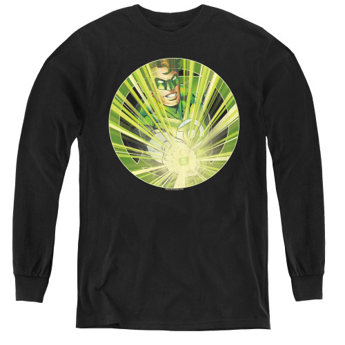 Image for Green Lantern Light 'em Up Youth Long Sleeve T-Shirt