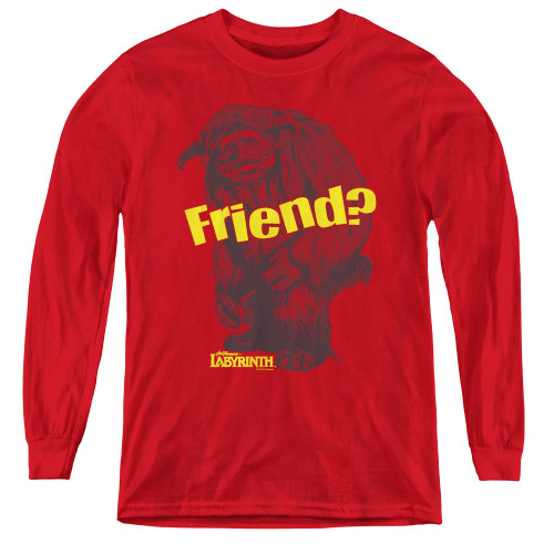 Image for Labyrinth Youth Long Sleeve T-Shirt - Ludo Friend