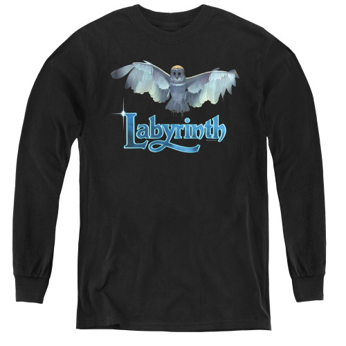 Image for Labyrinth Youth Long Sleeve T-Shirt - Title Sequence