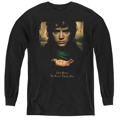 Image for Lord of the Rings Youth Long Sleeve T-Shirt -Frodo One Ring to Rule Them All