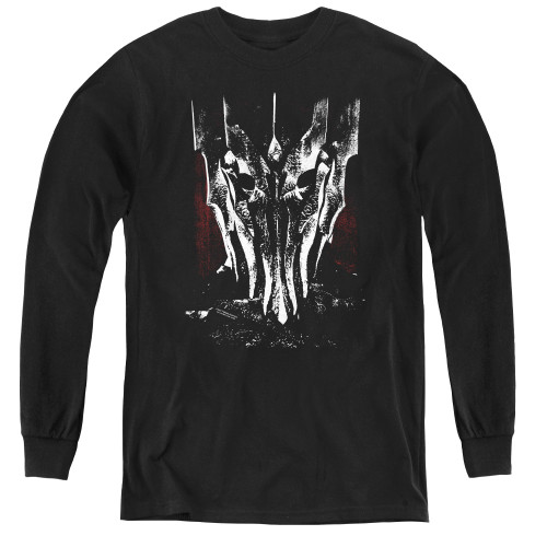 Image for Lord of the Rings Youth Long Sleeve T-Shirt -Big Sauron Head