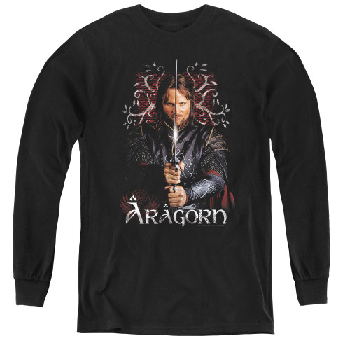 Image for Lord of the Rings Youth Long Sleeve T-Shirt -Aragorn