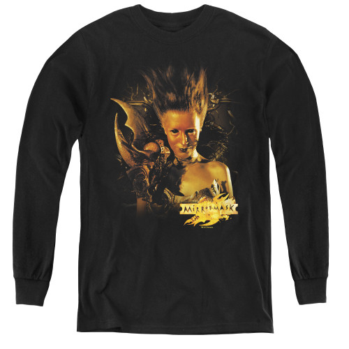 Image for MirrorMask Youth Long Sleeve T-Shirt - Queen of Shadows