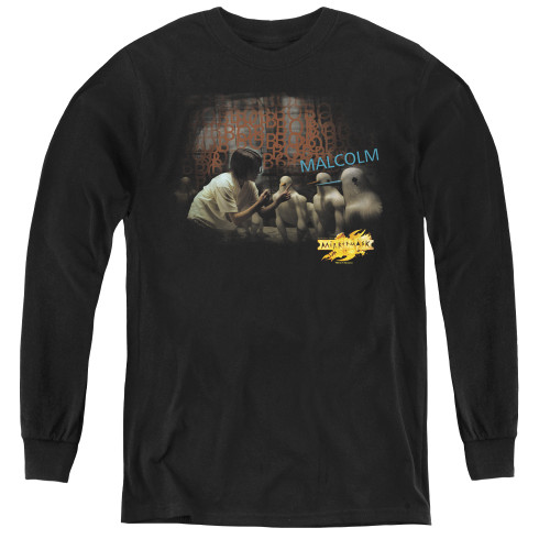 Image for MirrorMask Youth Long Sleeve T-Shirt - Bob Malcolm