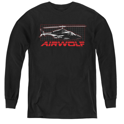 Image for Airwolf Grid Youth Long Sleeve T-Shirt