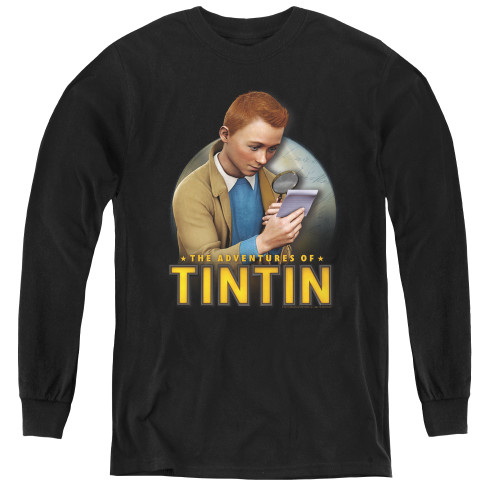 Image for The Adventures of Tintin Youth Long Sleeve T-Shirt - Looking for Answers