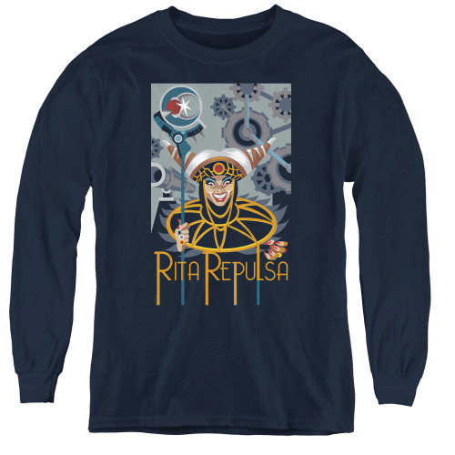 Image for Power Rangers Youth Long Sleeve T-Shirt - Rita Deco