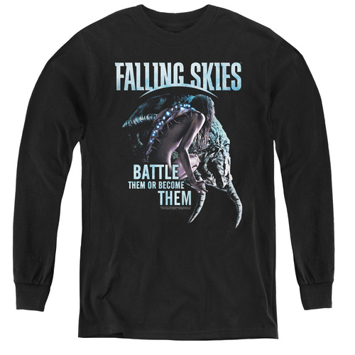Image for Falling Skies Youth Long Sleeve T-Shirt - Battle or Become