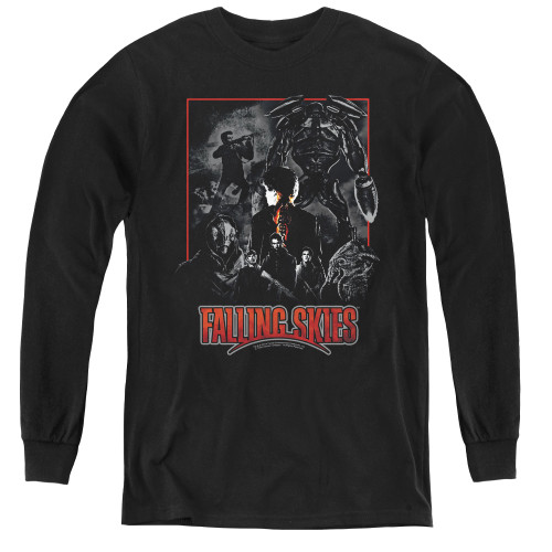Image for Falling Skies Youth Long Sleeve T-Shirt - Collage