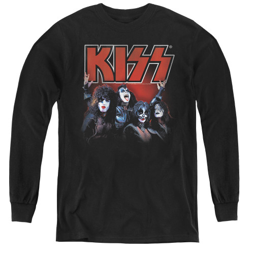 Image for Kiss Youth Long Sleeve T-Shirt - Kings of Rock