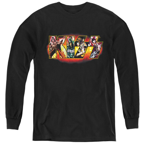 Image for Kiss Youth Long Sleeve T-Shirt - Stage Logo
