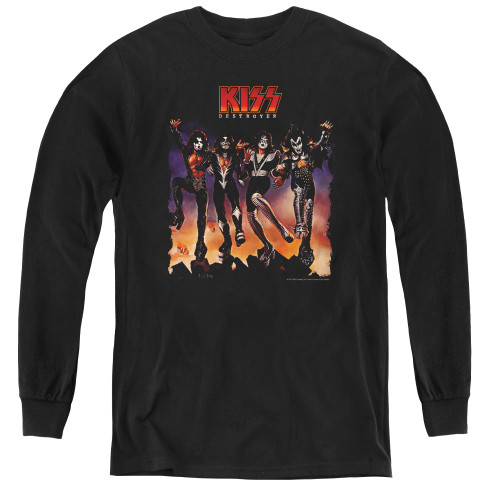 Image for Kiss Youth Long Sleeve T-Shirt - Destroyer Cover
