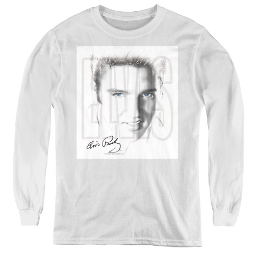 Image for Elvis Youth Long Sleeve T-Shirt - Blue Eyes