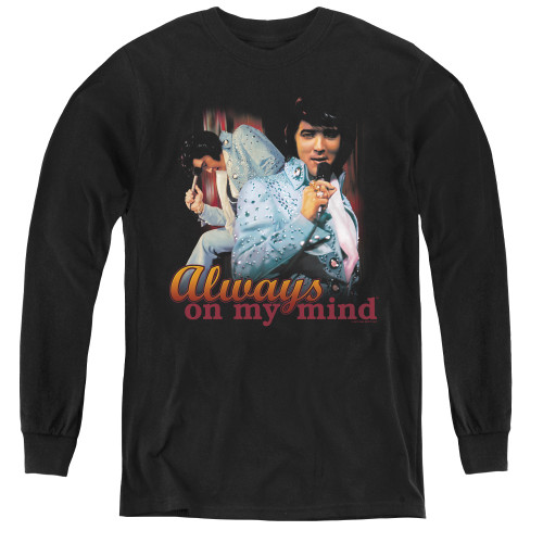 Image for Elvis Youth Long Sleeve T-Shirt - Always on My Mind