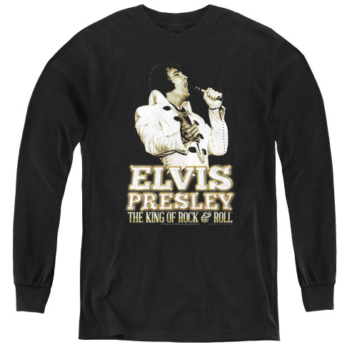 Image for Elvis Youth Long Sleeve T-Shirt - Golden