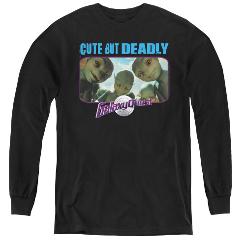 Image for Galaxy Quest Youth Long Sleeve T-Shirt - Cute but Deadly