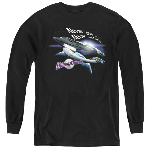 Image for Galaxy Quest Youth Long Sleeve T-Shirt - Never Surrender