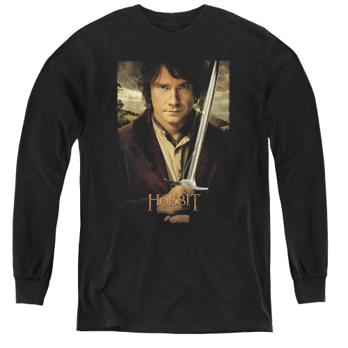 Image for The Hobbit Youth Long Sleeve T-Shirt - Baggins Poster