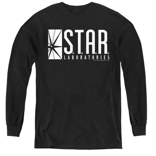 Image for Flash TV Show Youth Long Sleeve T-Shirt - S.T.A.R. Laboratories