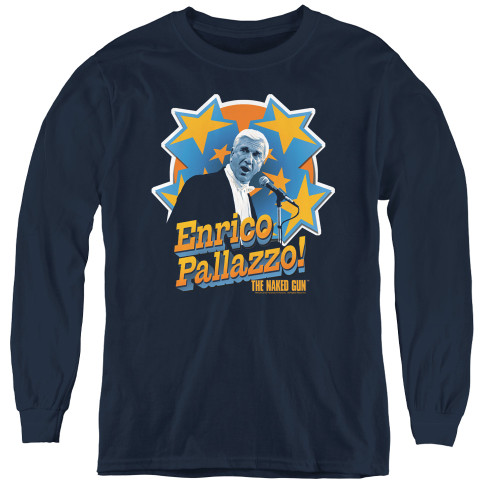 Image for Naked Gun Youth Long Sleeve T-Shirt - It's Enrico Pallazzo